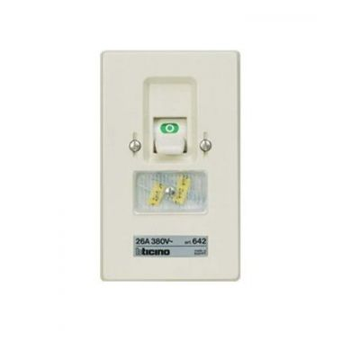 Two Pole Fuse Switch (Flush-Mounting) 26 A 2P 380 Va.c.