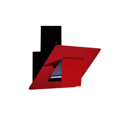 "Elegance Red""Cooker Hood 90cm"""